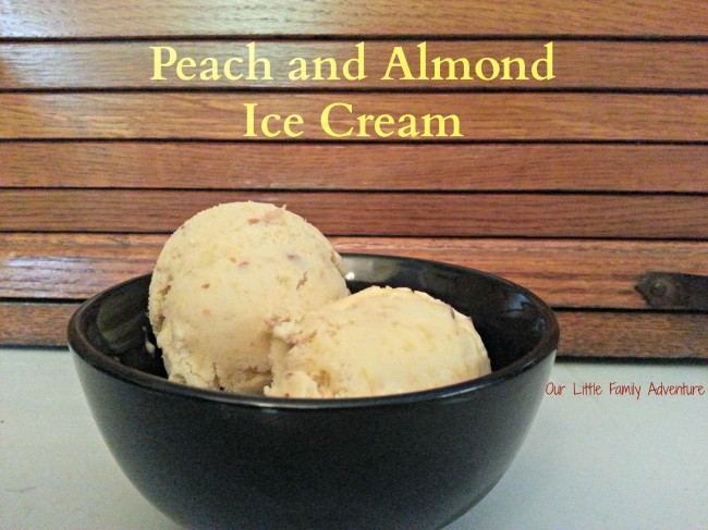 Peach and Almond homemade Ice Cream