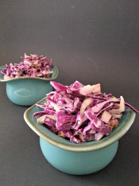Poppy Seed Red Cabbage and Apple Slaw 2