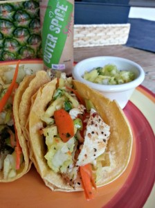 Spicy Island Fish Tacos with Outer Spice seasoning