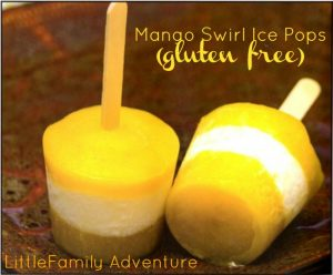 Mango Swirl Ice Pops from Beach House Baking Cookbook - Here's the recipe and my book review. Get your copy today!