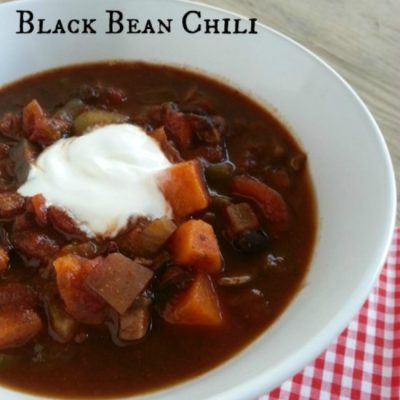 Vegetarian Chili with Sweet Potato and Black Bean