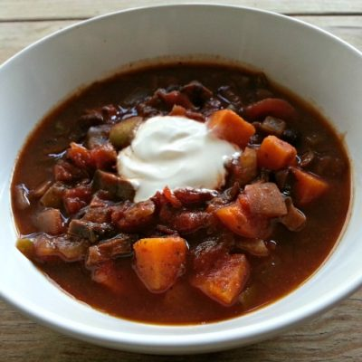 Vegetarian Chili Crock Pot Recipe