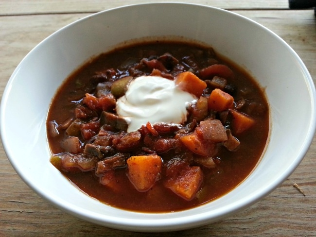 sweet potato and black bean chili - February meal plan