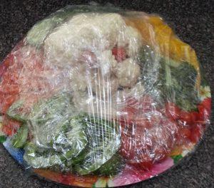 Halloween Veggie Platter - Cauliflower Monster - Healthy appetizer & snack