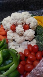 Halloween Veggie Platter - Cauliflower Monster - Healthy snack or party food