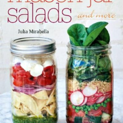 Pomegranate and Pear Salad from Mason Jar Salads and More (cookbook review)