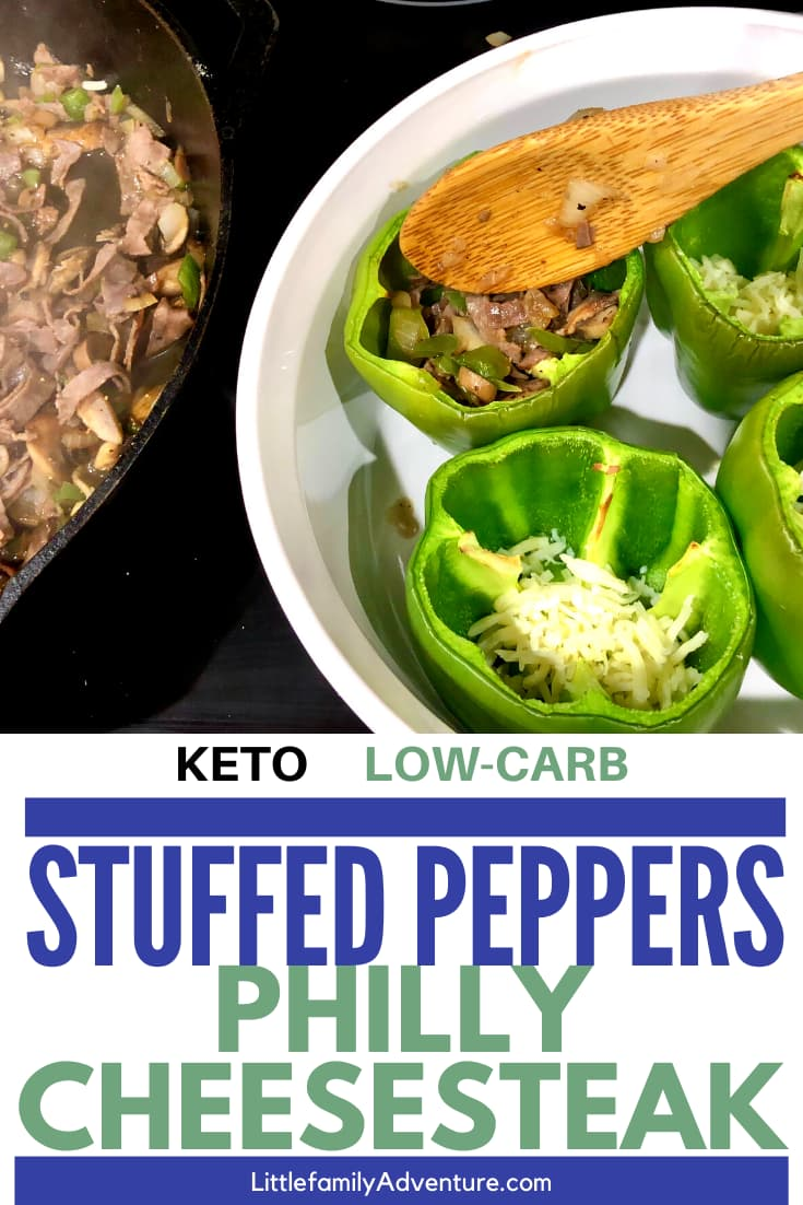 stuffed philly cheese steak peppers