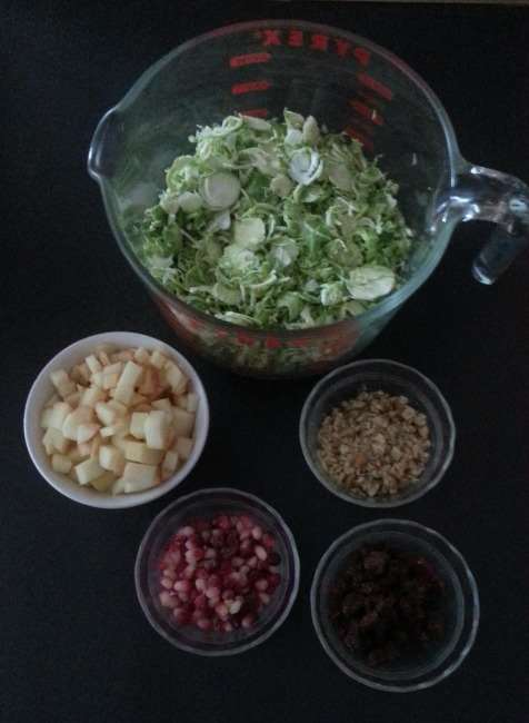 Brussels Sprout Salad with Orange Tahini Dressing