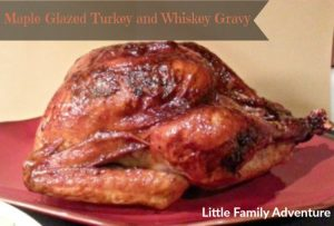 maple glazed turkey and whiskey gravy`