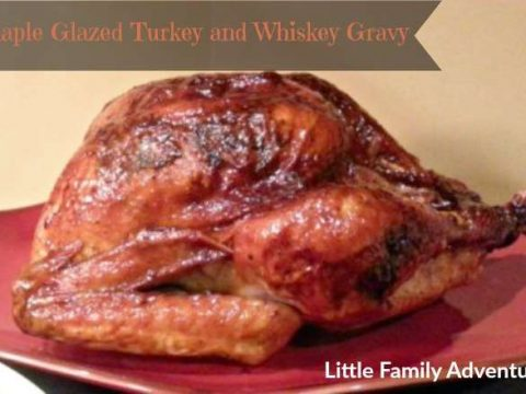 Maple Glazed Turkey and Whiskey Gravy