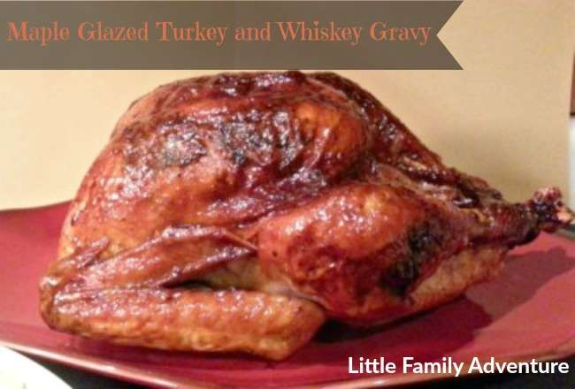maple glazed turkey and whiskey gravy`