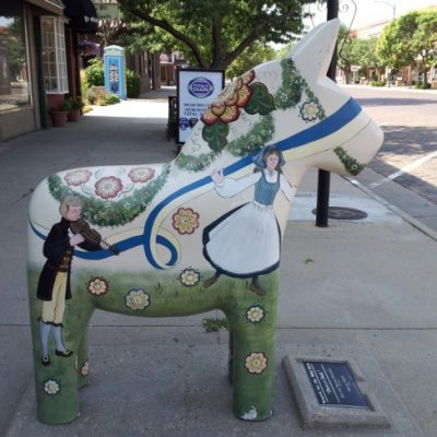 Just Off the Beaten Path: Dala Horse in Downtown Lindsborg, Kansas