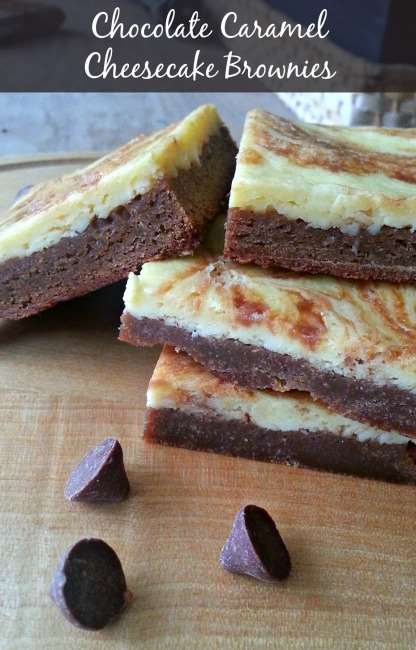 Chocolate Caramel Cheesecake Brownies with #TollHouseTime #NestleTollHouse #DelightFulls