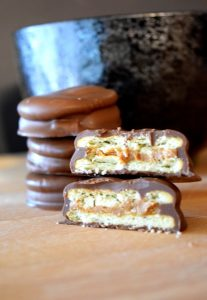 Chocolate Covered Cookie Butter Sandwiches