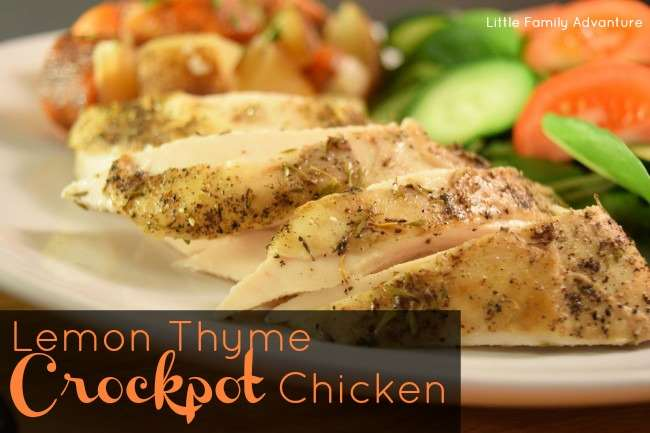 Lemon Thyme Crockpot Chicken and Vegetables
