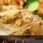 Lemon Thyme Crockpot Chicken