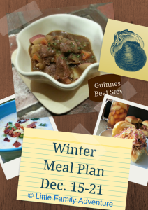 Winter Meal Plan 1 Dec. 15-21 | Comfort food and more