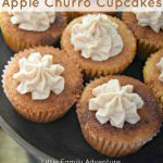 Apple Churro Cupcakes
