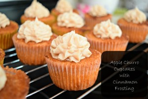 Apple Churro Cupcakes | Little Family Adventure