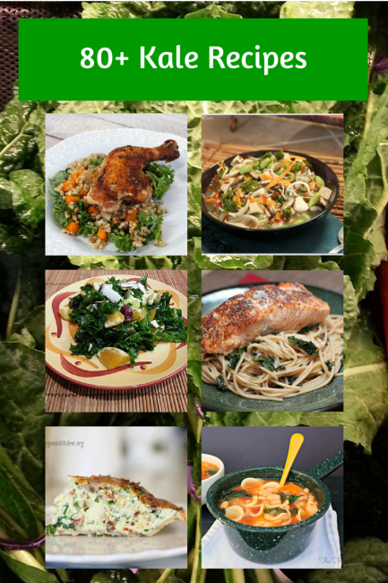 80+ Kale Recipes- New Food of the Week Challenge | Real Food for clean eating, breakfast, snacks, beverages, main entrees, salads, and soups