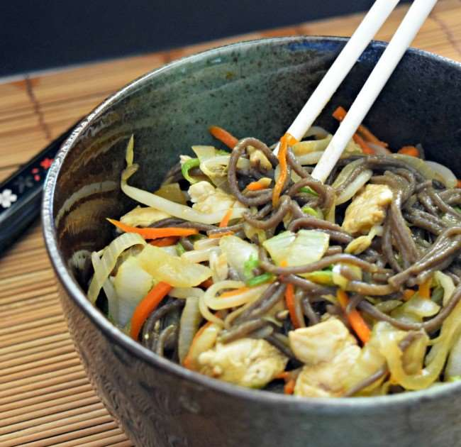 Quick and Easy Yakisoba is healthy fast food!