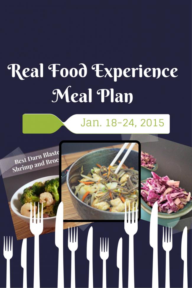 Real Food Experience Meal Plan Week 3