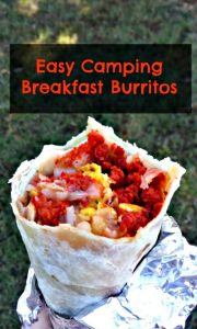 Easy Camping Breakfast Burritos | Little Family Adventure | An easy breakfast for campouts, indoor tents, and cookouts