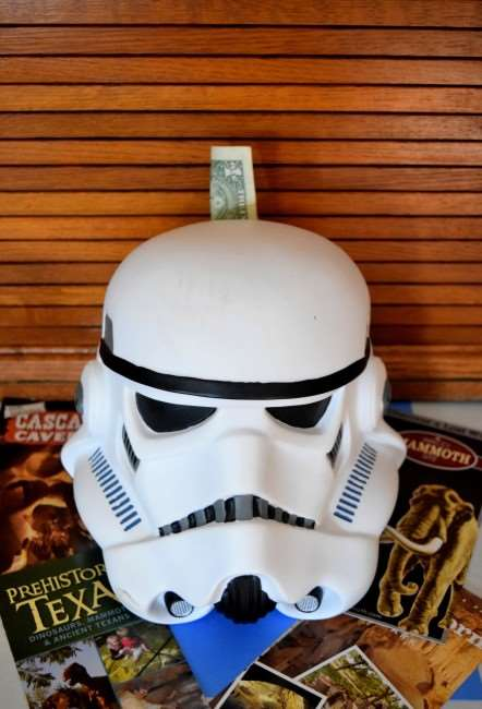 Tips on How to Create an Easy Family Travel Fund - Make Saving Fun with this Storm Trooper Piggy Bank
