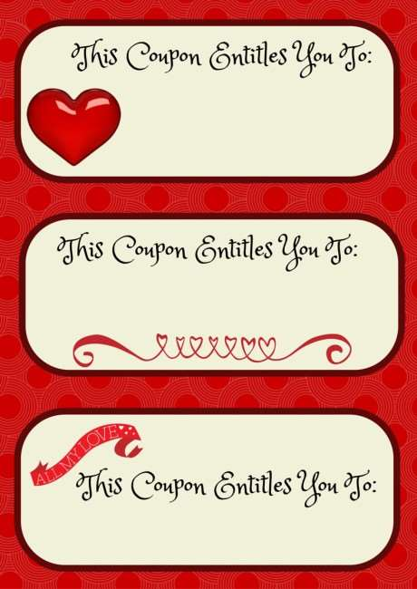 Create a love themed valentine basket and have a fun date for Personalized coupon book template