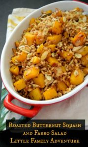 Roasted Butternut Squash and Farro Salad