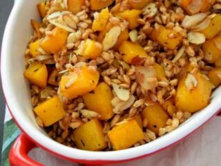 Roasted Butternut Squash and Farro Salad | Little Family Adventure
