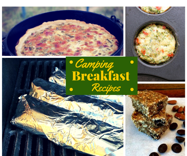 Camping Breakfast Recipes for your next camping trip or backyard grill out