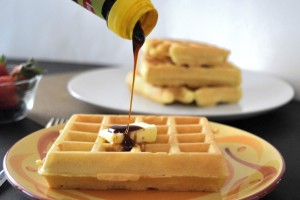 Delicious Waffles with the Disney Mickey Waffle recipe without refined sugar