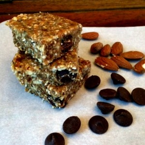 Energy-bars for campside breakfast