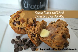 26 Camping Breakfast Recipes: Peanut butter chocolate chip muffins