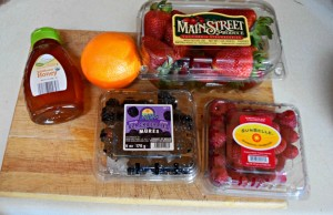 Triple Berry Salad - Whole food, clean eating fruit salad - Healthy Easter Dinner on a Budget - Create a Healthy meal for 12 for under $6 pp with ALDI