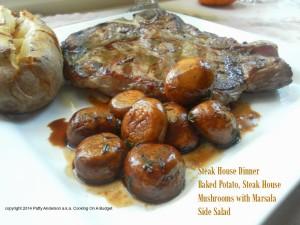 26 Camping Breakfast Recipes: Steak House Mushrooms Marsala