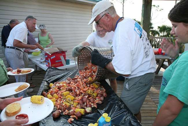 Crawfish Boil in Gulf County, Florida