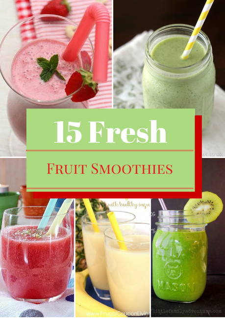 15 Delicious Fresh Fruit Smoothies