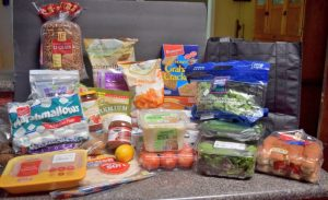 Groceries for weekend campout- $50 for 5 people | Camping Food: Meal Plan, Recipes, & Tips for a Weekend Campout | Everything you need to cook great food on your next campout; menu, printable grocery list, recipes, etc.
