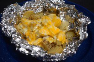 Cheesy Potatoes - Camping Food