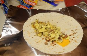 Breakfast burritos are an easy meal for camping | Camping Food: Meal Plan, Recipes, & Tips for a Weekend Campout | Everything you need to cook great food on your next campout; menu, printable grocery list, recipes, etc.