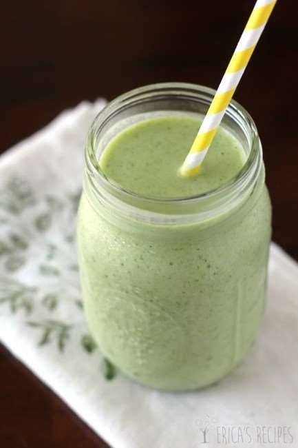 The-Tropical-Green-Smoothie via Erica's Recipes