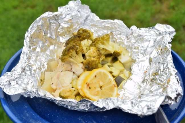 Herb Chicken and Veggie Foil Packet Dinner | Cold Cut Sandwiches are an easy meal for camping | Camping Food: Meal Plan, Recipes, & Tips for a Weekend Campout | Everything you need to cook great food on your next campout; menu, printable grocery list, recipes, etc.