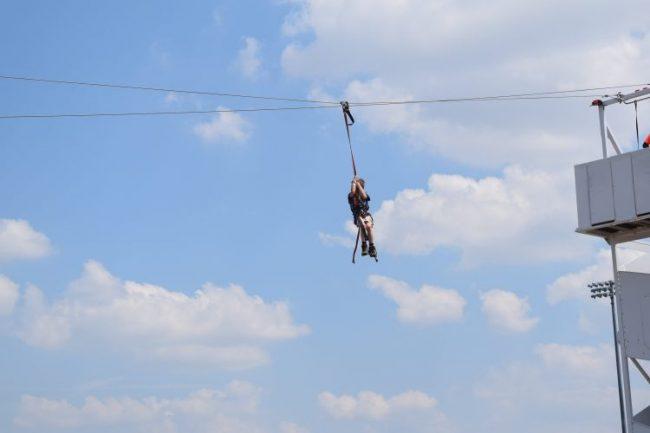 Ziplining at RIVERSPORT Adventures