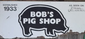 Bob's Pig Shop has been cooking up up GREAT food since 1933. This is a place BBQ lovers won't want to miss. Enjoy pulled pork, ribs, brisket, burgers, and homemade ice cream that is well worth the trip along #AdventureRoad. #Oklahoma #barbecue #roadsidestop #travel