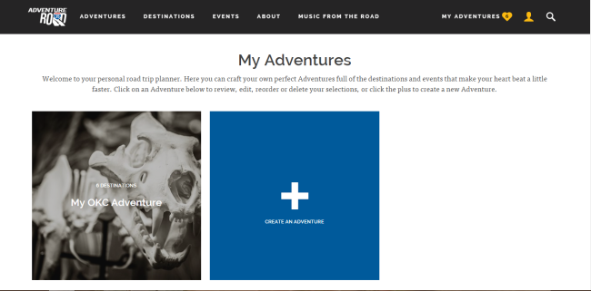 #AdventureRoad website is easy to use to create your new adventure