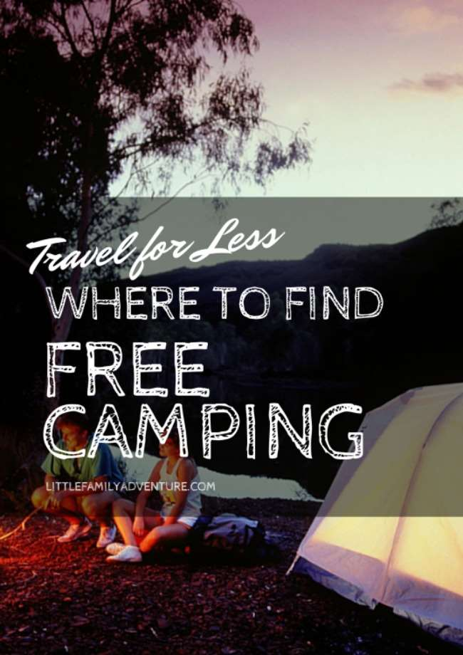 free camping sites and campgrounds