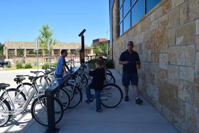 Renting bicycles at the Chickasaw Visitor Center. A must stop destination before heading into the Chickasaw National Recreation Area