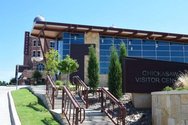 Chickasaw Visitor Center is a must stop destination before heading into the Chickasaw National Recreation Area